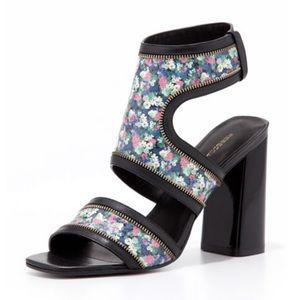 Rebecca Minkoff Parker Floral-Print Leather Sandal